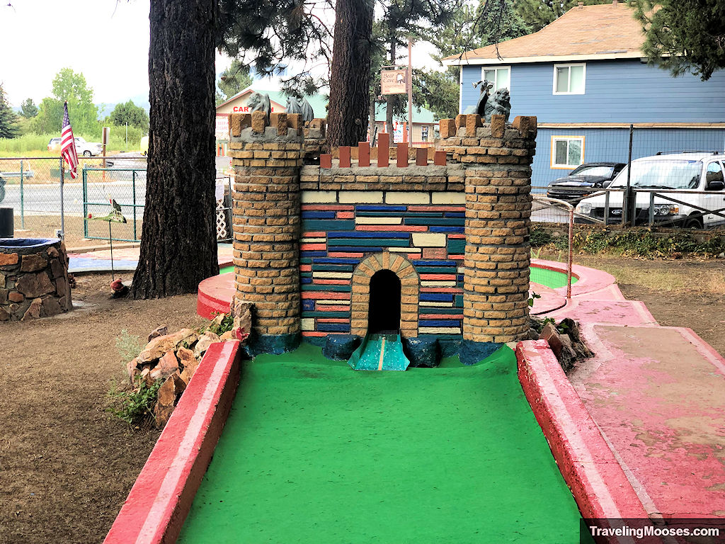 Colorful Castle Hole at the Hot Shots Miniature Golf Course