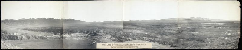 Salt Lake City Skyline seen from Ensign Peak in 1911