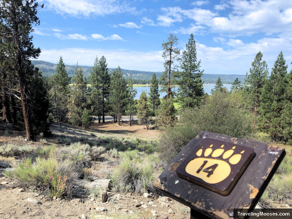 Interpretive marker # 14 View of Big Bear and Animal trails