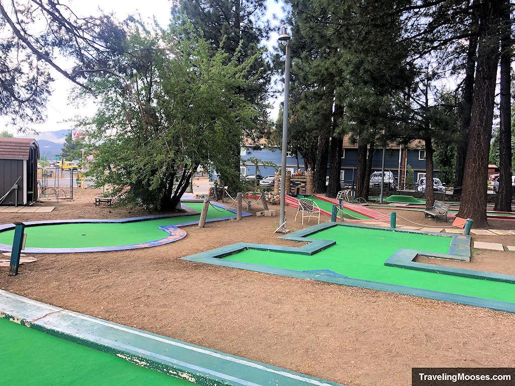 Various holes at Miniature Golf course