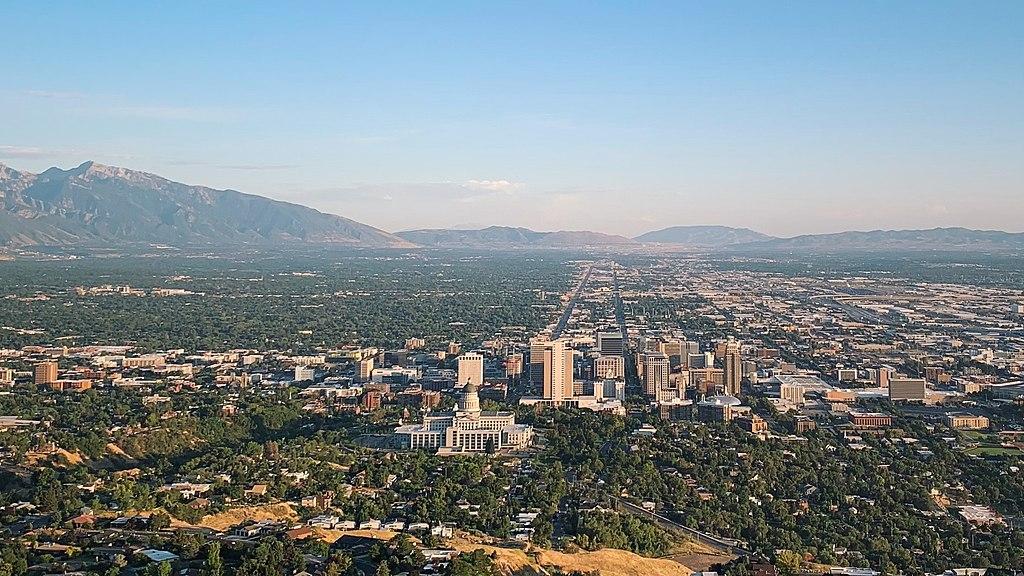 Salt Lake City skyline in the daytime
