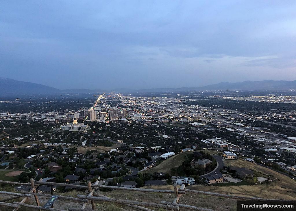 Salt Lake City View from summit of Ensign Peak