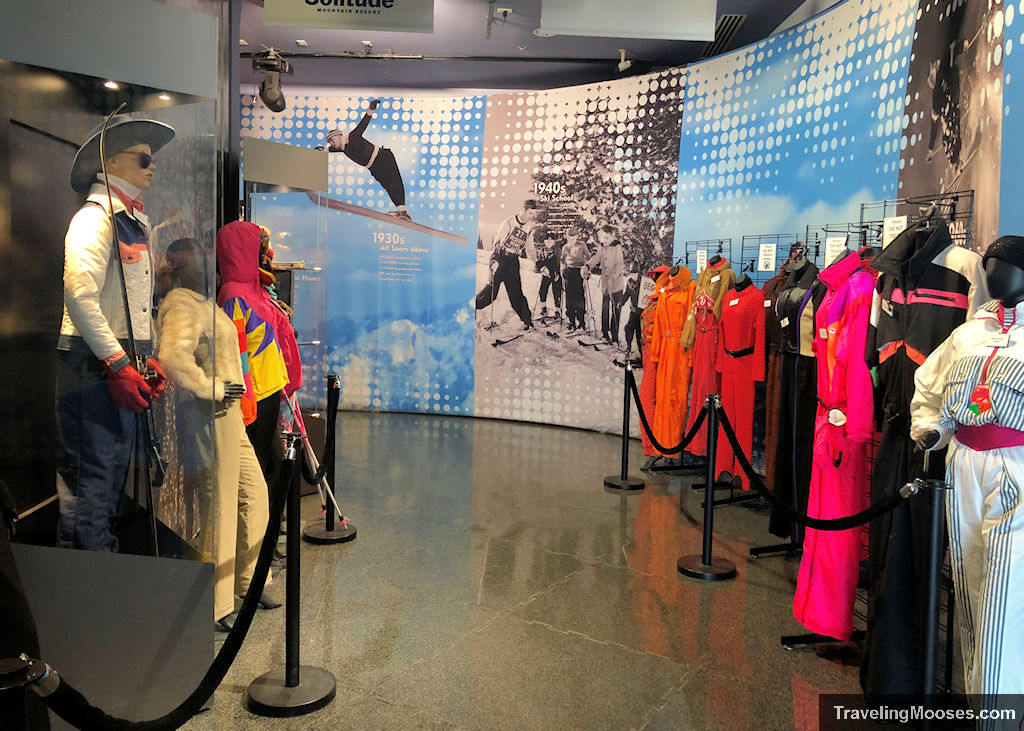 Ski outfits from various eras and countries at Alf Engen Museum