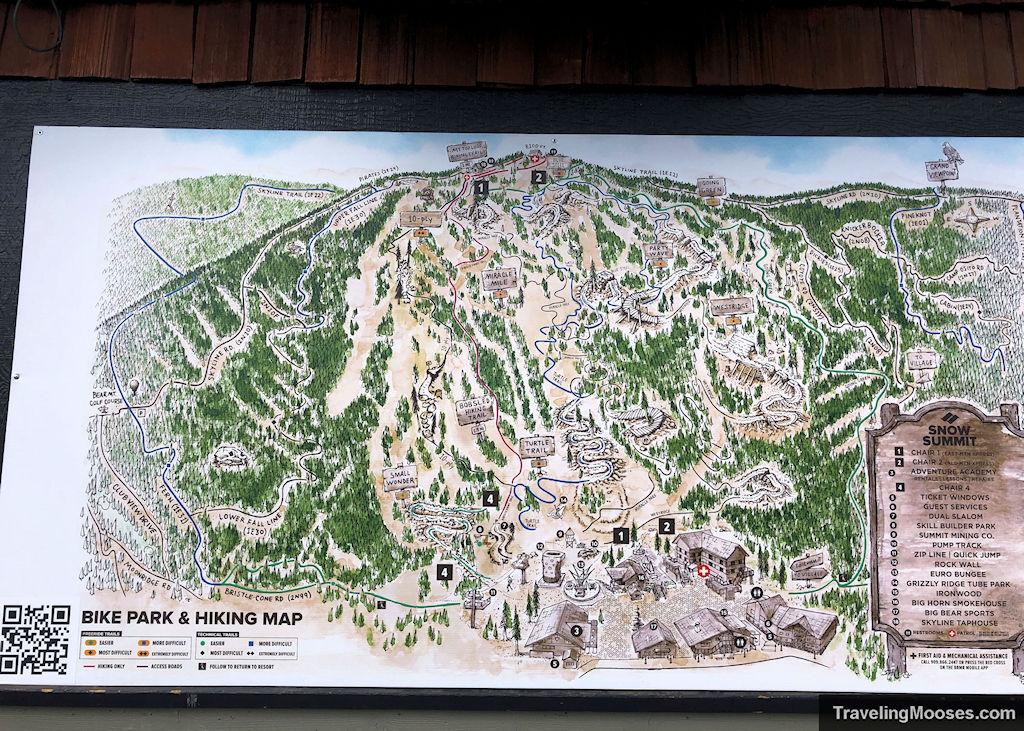 Snow summit hiking trail map