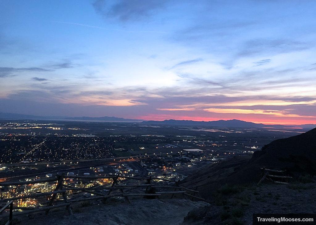 Sunset at Ensign Peak