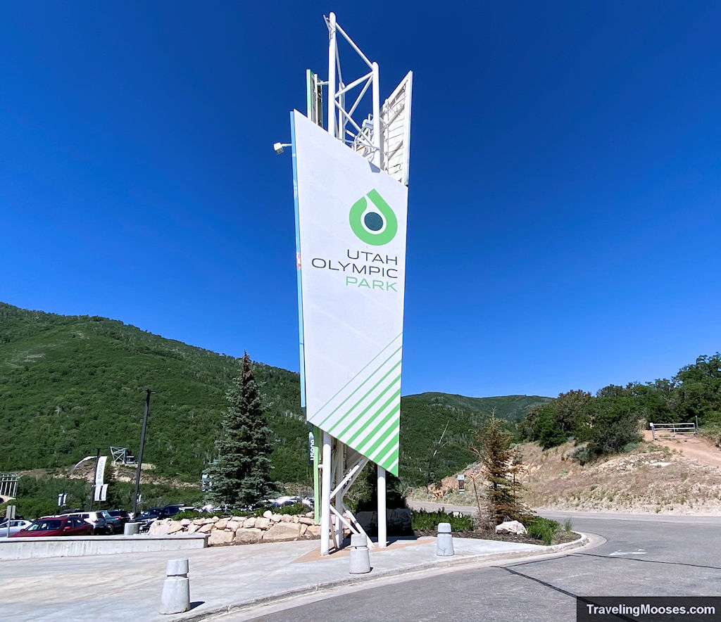 Utah Olympic Park Welcome Sign