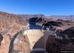 View of Hoover Dam seen from Memorial Bridge