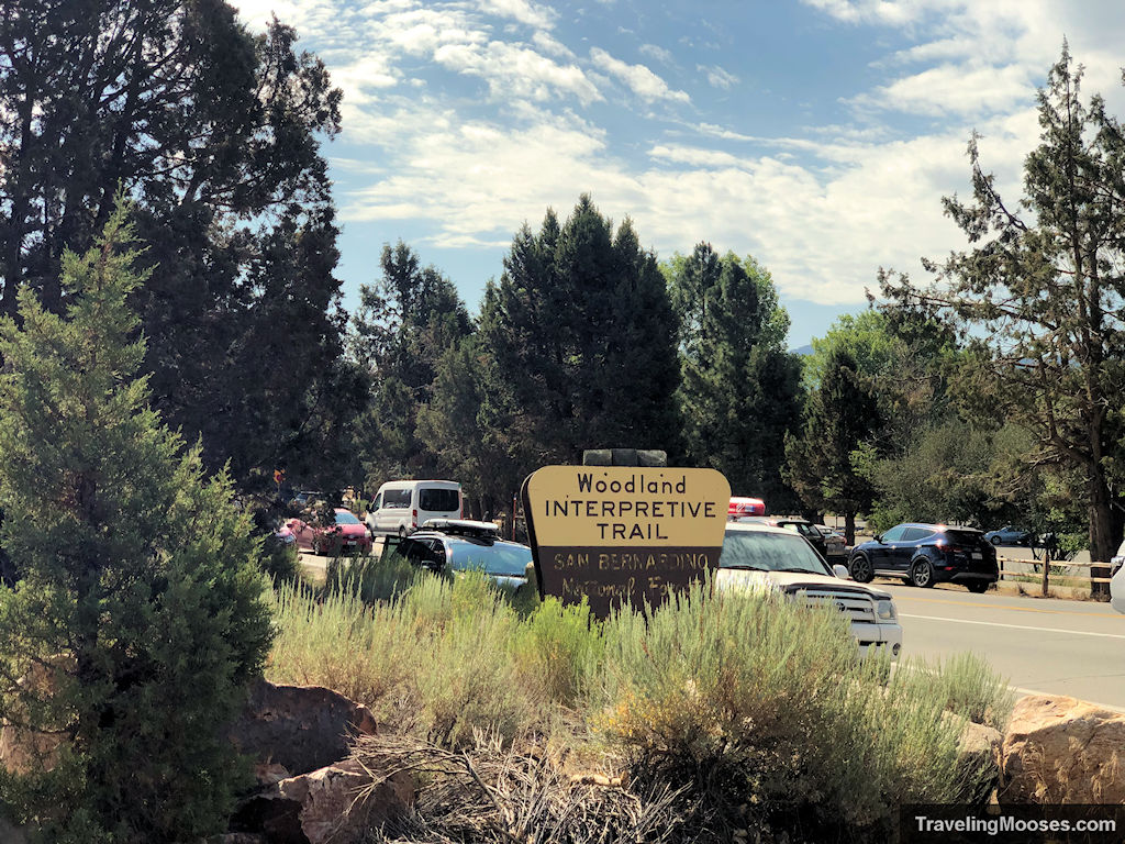 Woodland Interpretive Trail Welcome Sign at park entrance