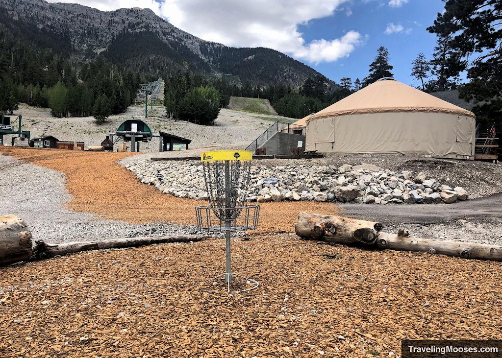 Lee Canyon Disc Golf Hole 5 Island