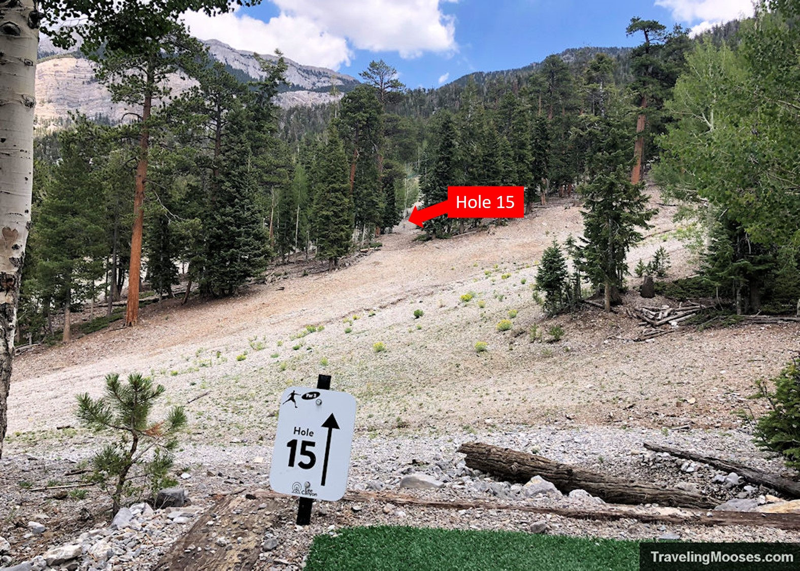 Lee Canyon Disc Golf Hole Fifteen