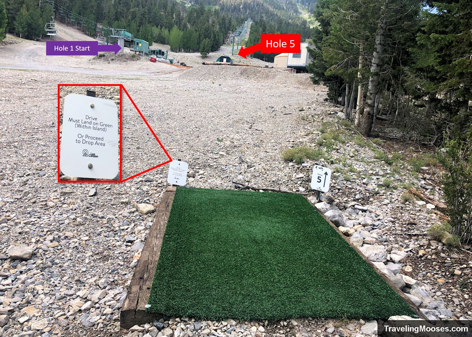 Lee Canyon Disc Golf Hole Five