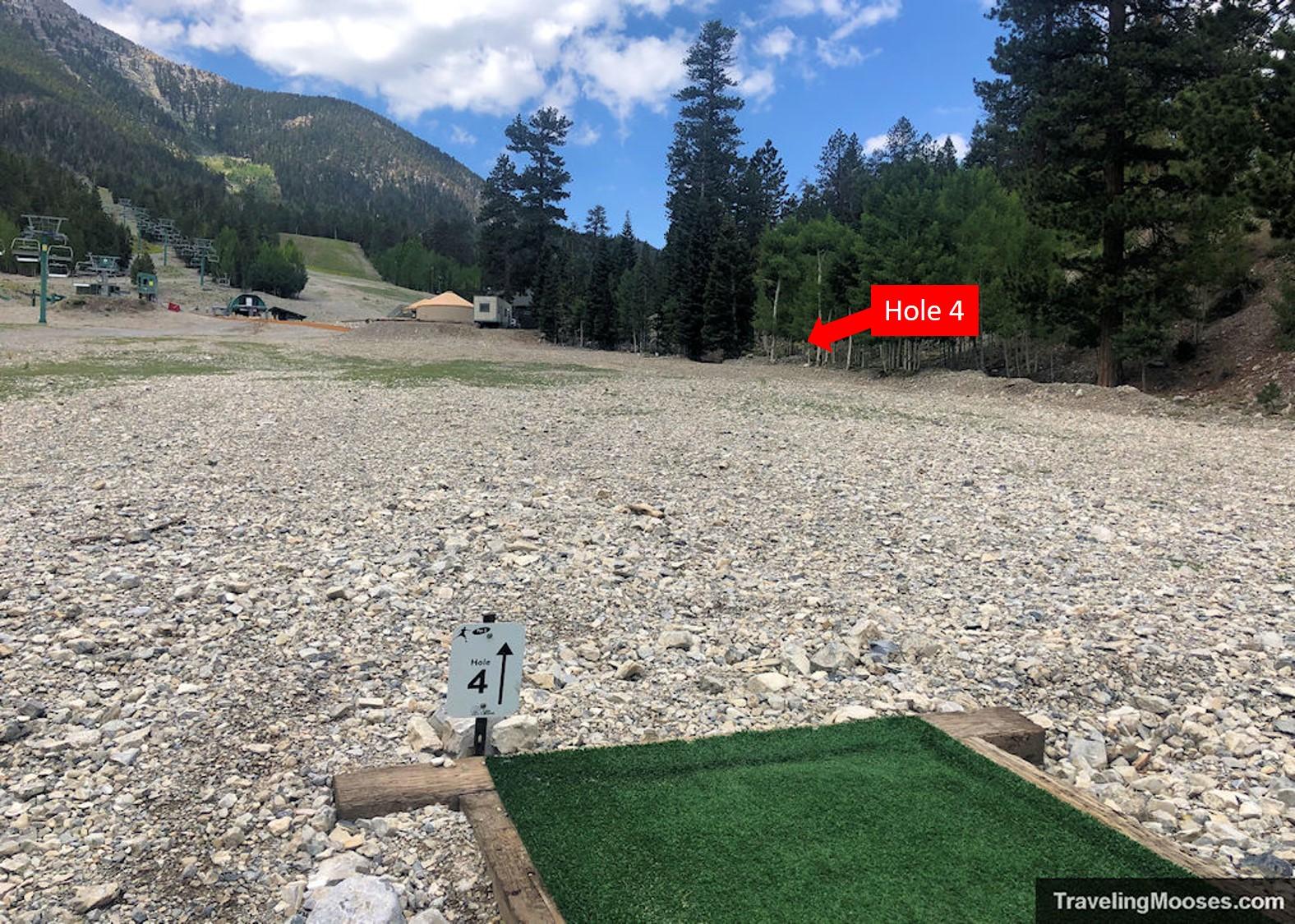 Lee Canyon Disc Golf Hole Four
