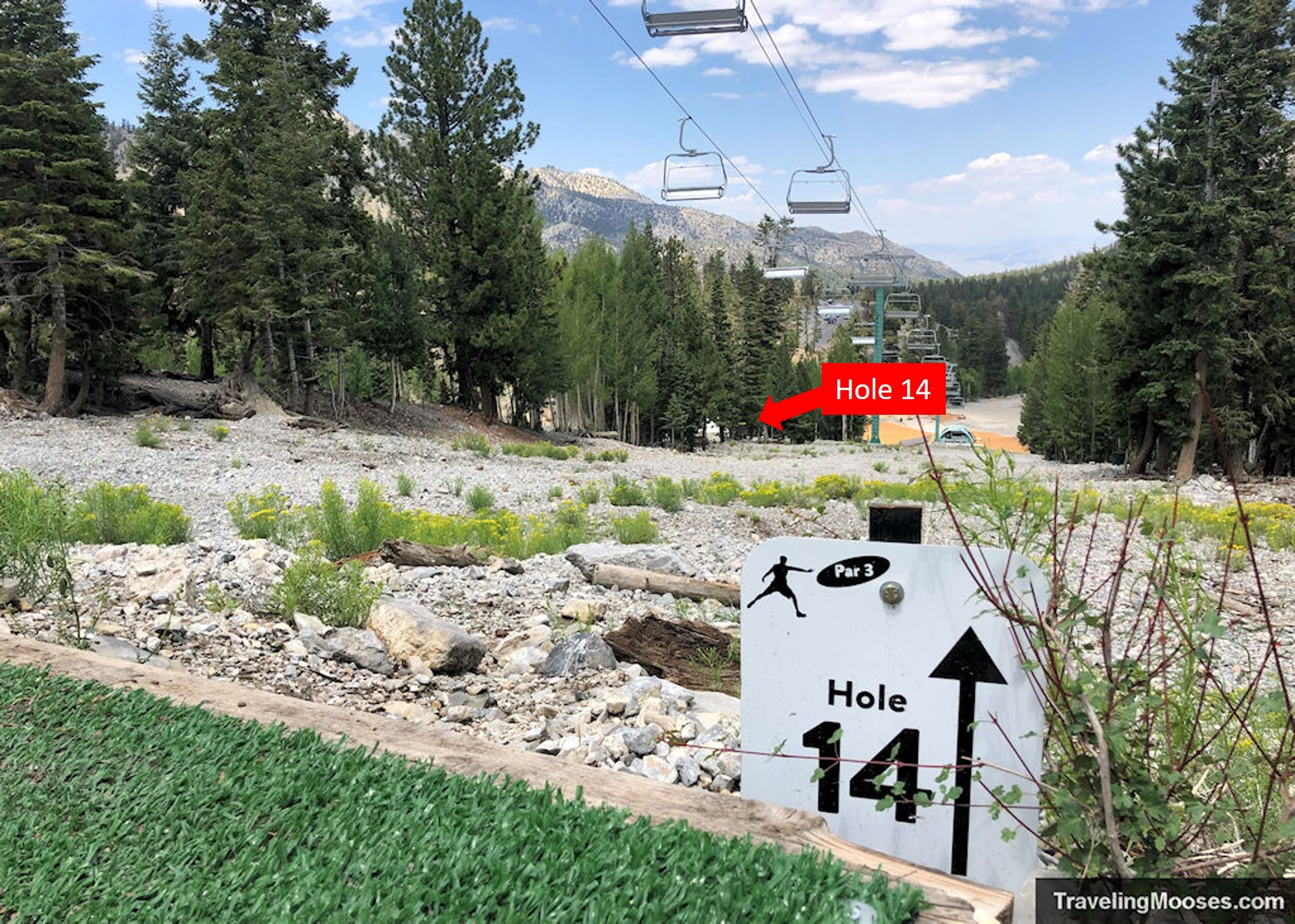 Lee Canyon Disc Golf Hole Fourteen
