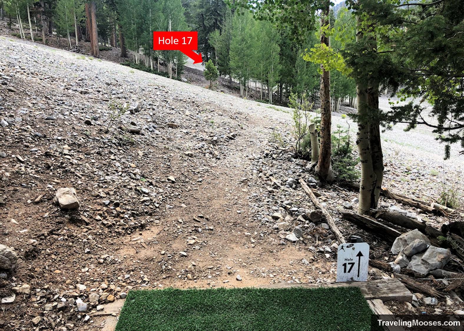 Lee Canyon Disc Golf Hole Seventeen