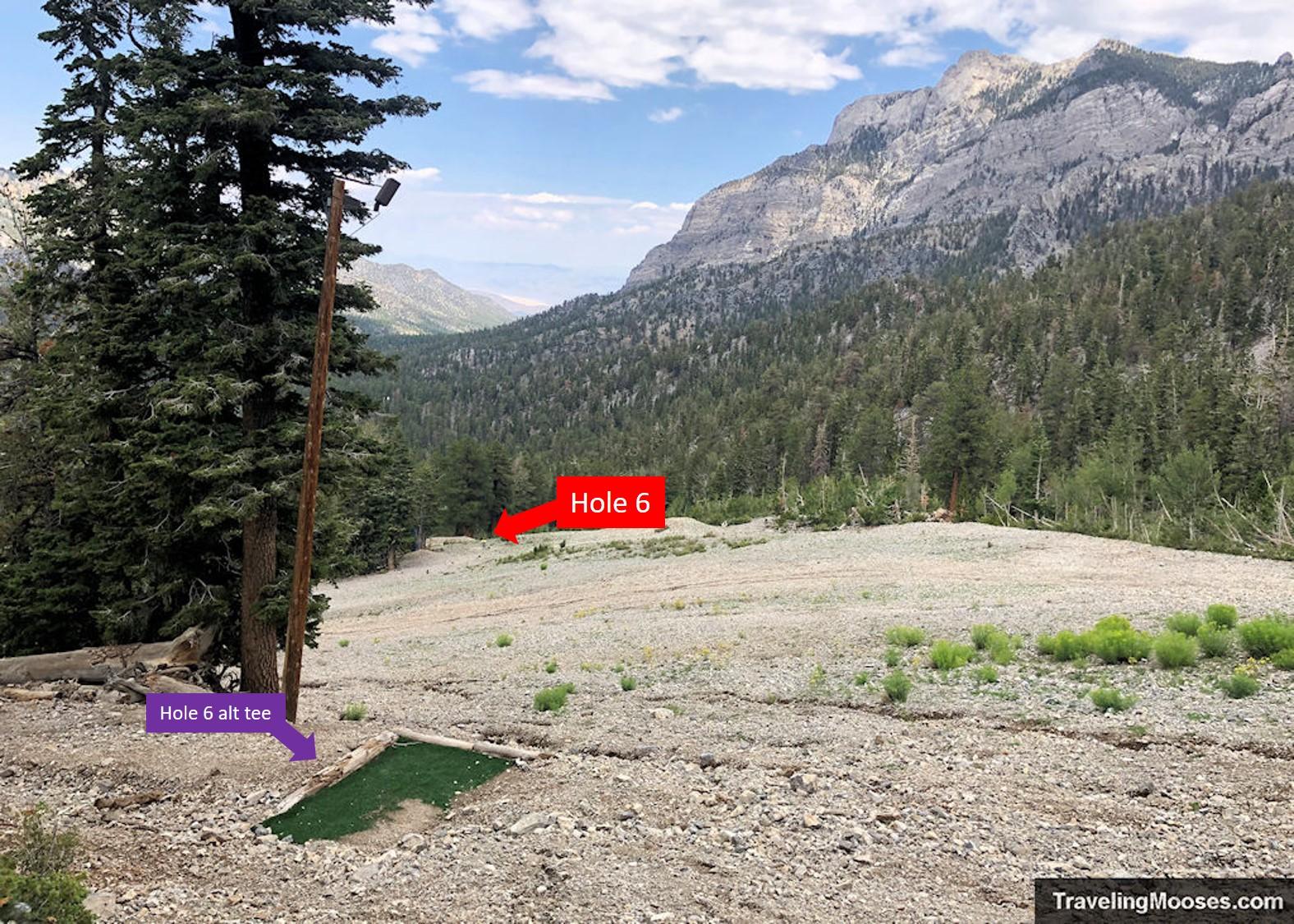 Lee Canyon Disc Golf Hole Six alternate