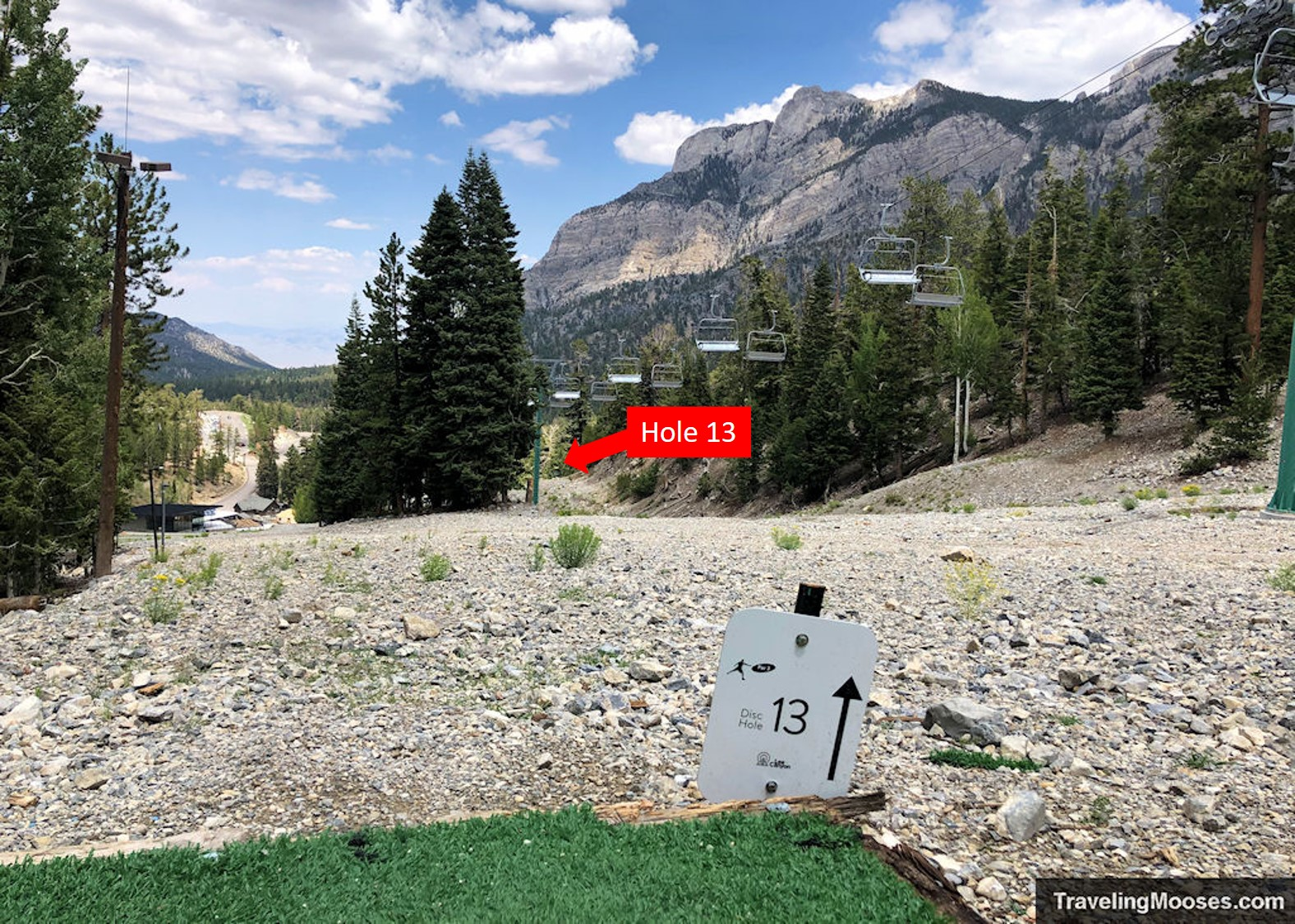 Lee Canyon Disc Golf Hole Thirteen