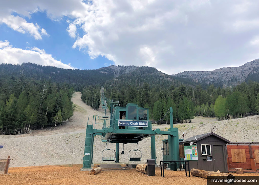 Lee Canyon ski and snowboard resort Scenic Chair Rides
