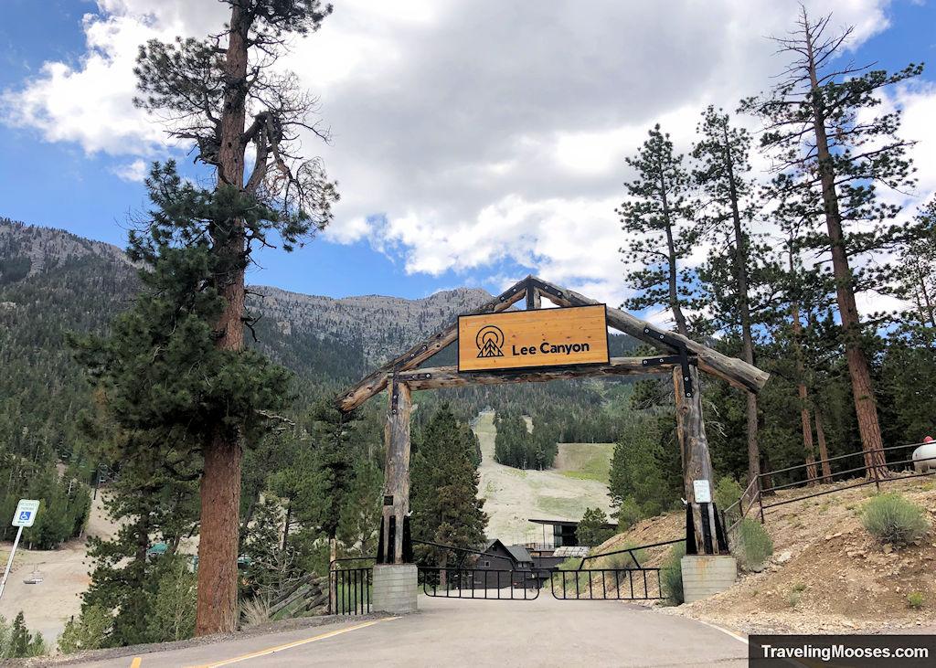 Lee Canyon Ski and Snowboard Resort Entrance