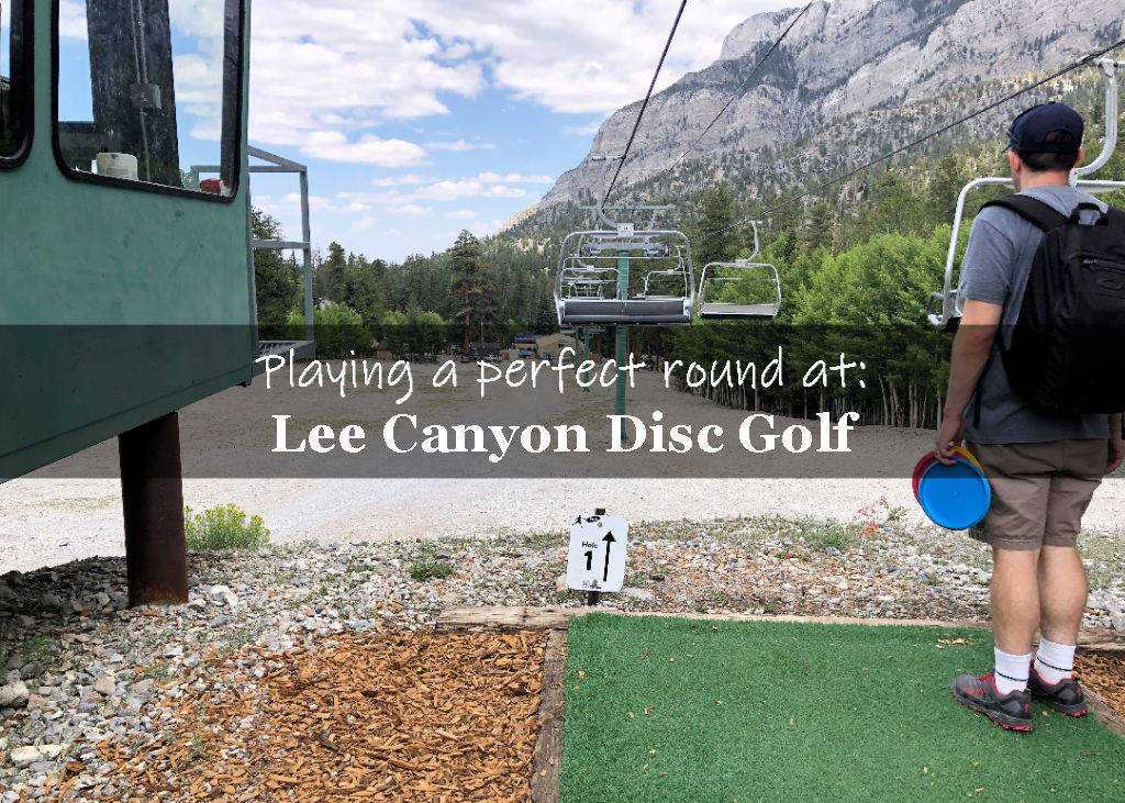 Lee Canyon disc golf playing a perfect round