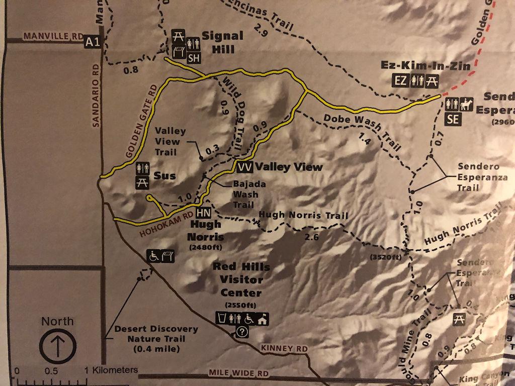 Map of Bajada Scenic Loop Drive