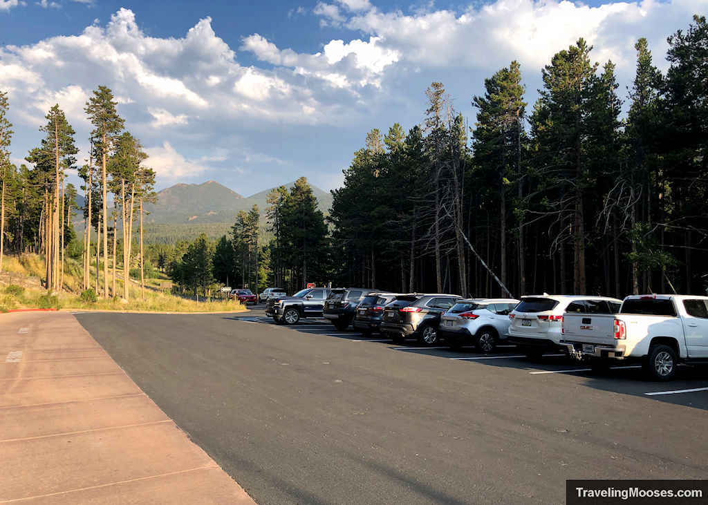 Bierstadt trailhead parking lot