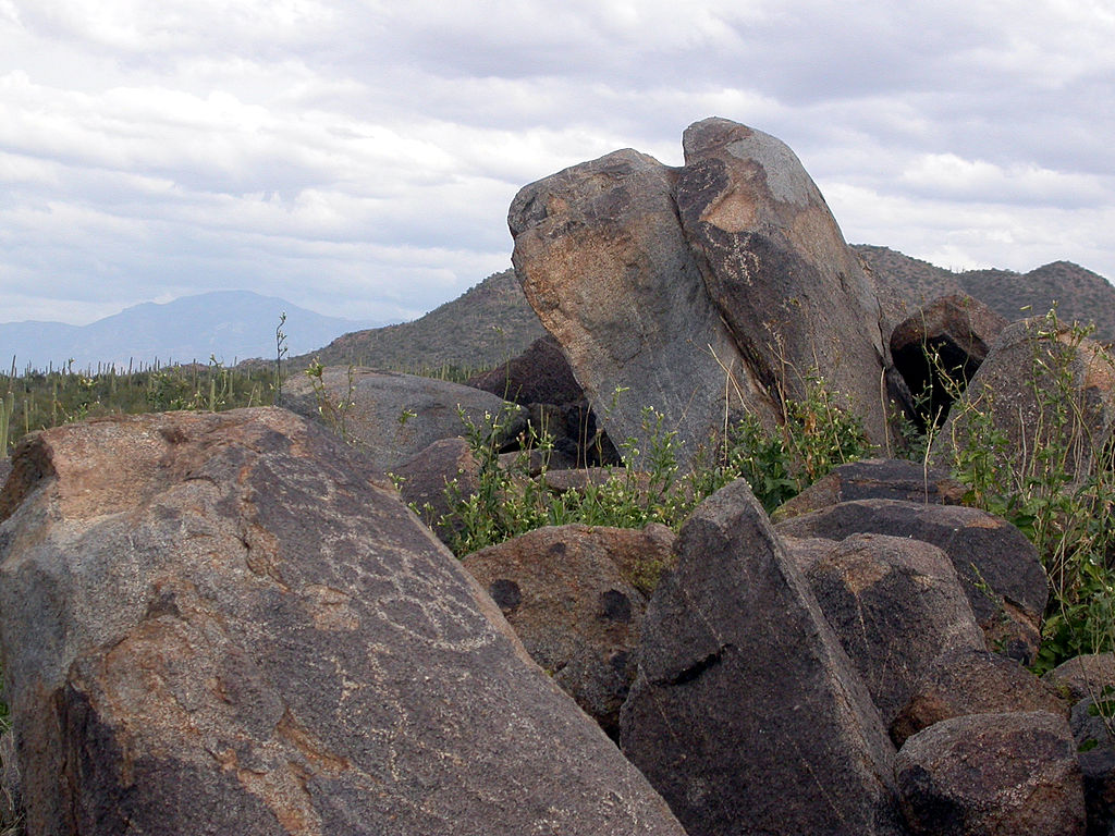 Petroglyphs at Signal Hill
