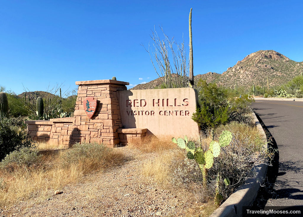 Red Hills Visitor Center welcome sign